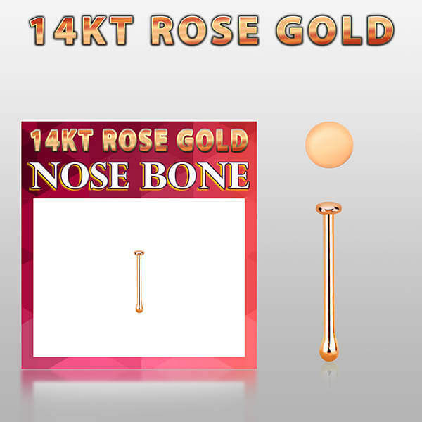 Rose Gold Nose Bone