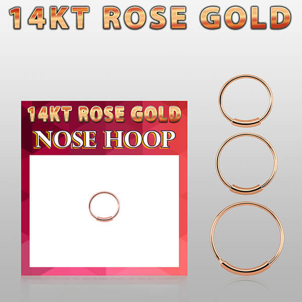 Rose Gold Nose Hoop