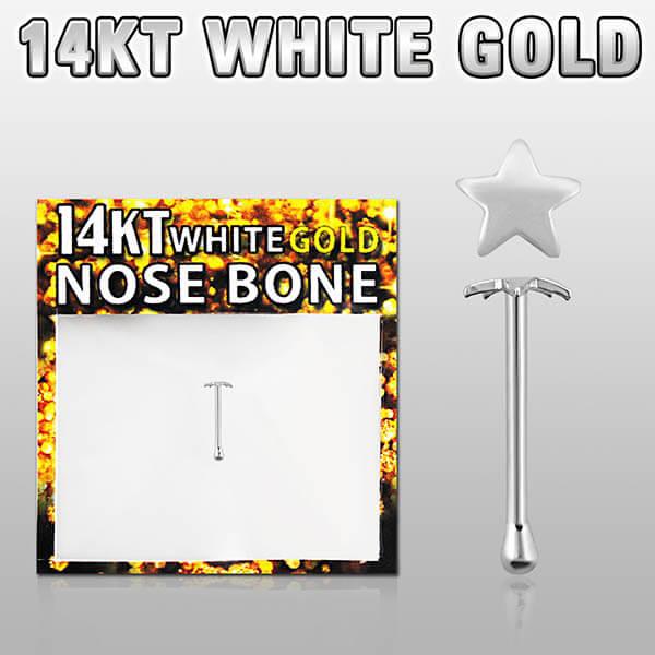 White Gold Nose Bone