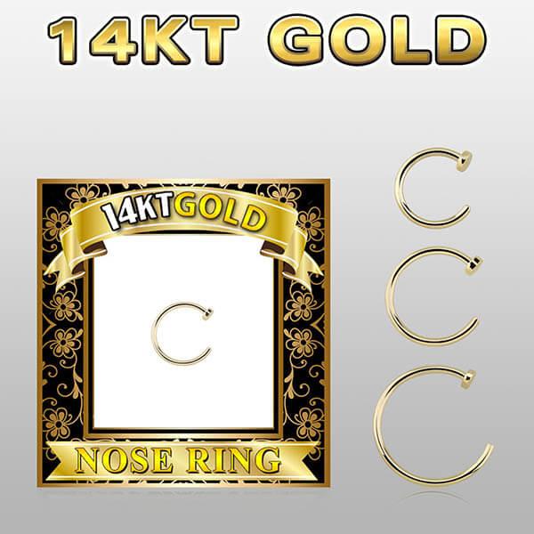 14k Gold Nose Ring