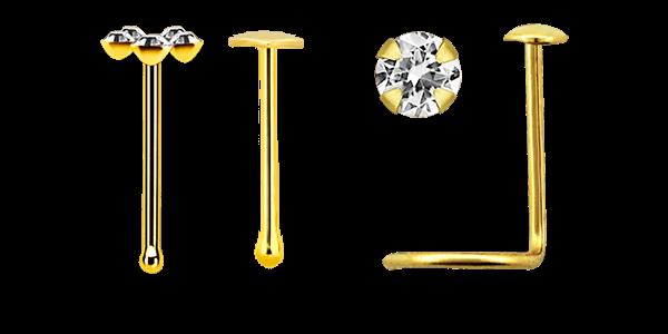 14 karat gold nose jewelry wholesaler