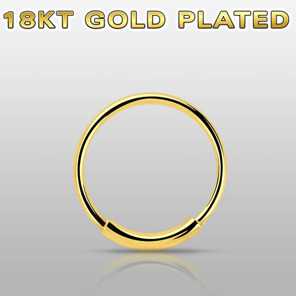 Gold Plated Nose Hoop
