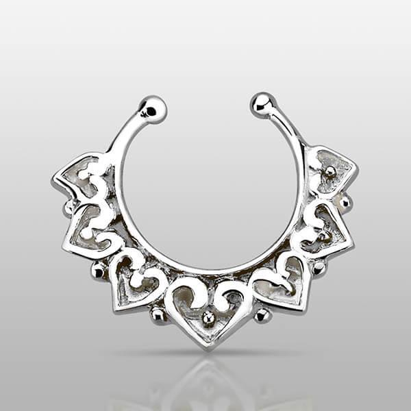Vintage Indian Silver Septum Ring