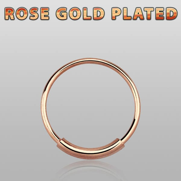 Rose Gold Plated Nose Hoop