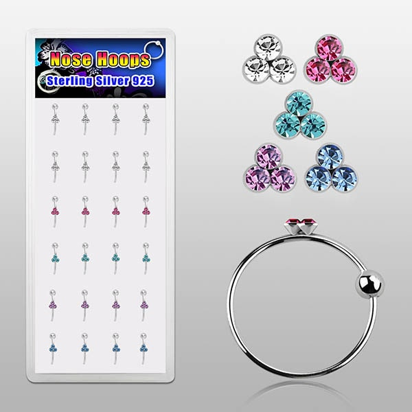 Wholesale Nose Rings with Gems