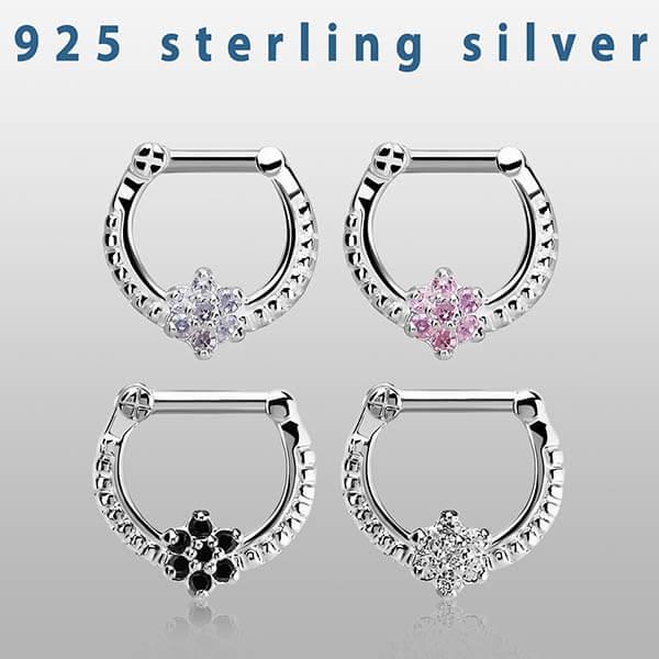 Silver Septum Clicker Ring