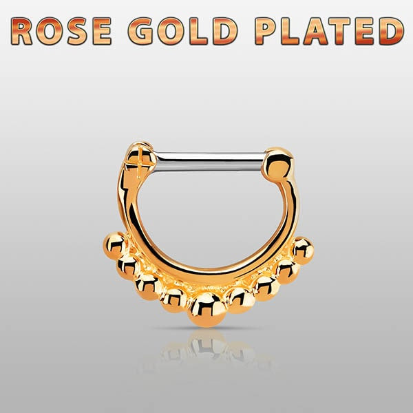 Rose Gold Plated Septum Ring