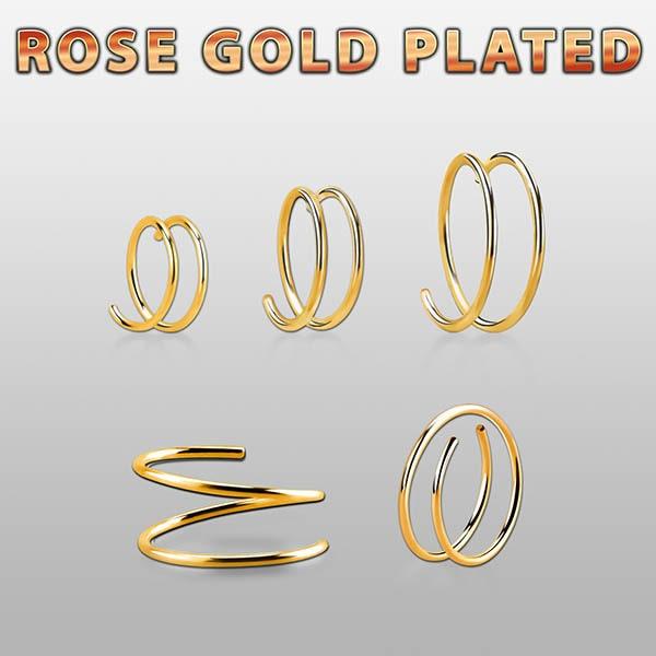 Rose Gold Plated Nose Spiral