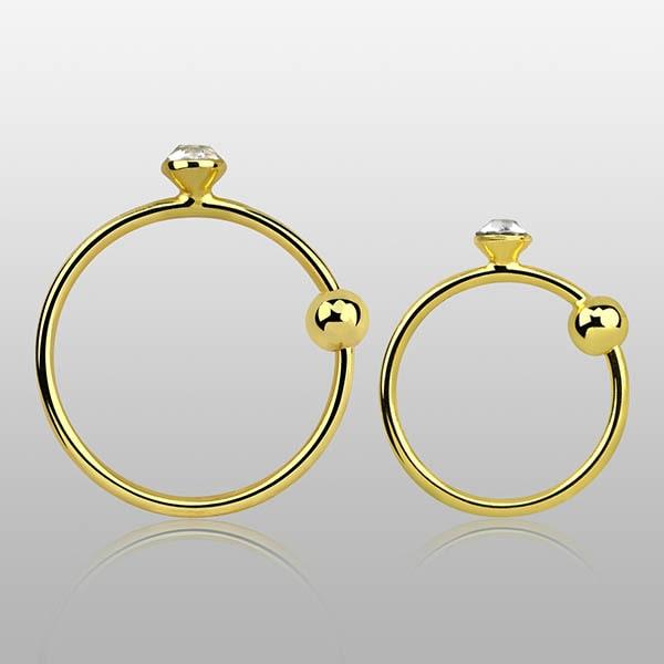 Gold Plated Nose Hoop Ring piercings