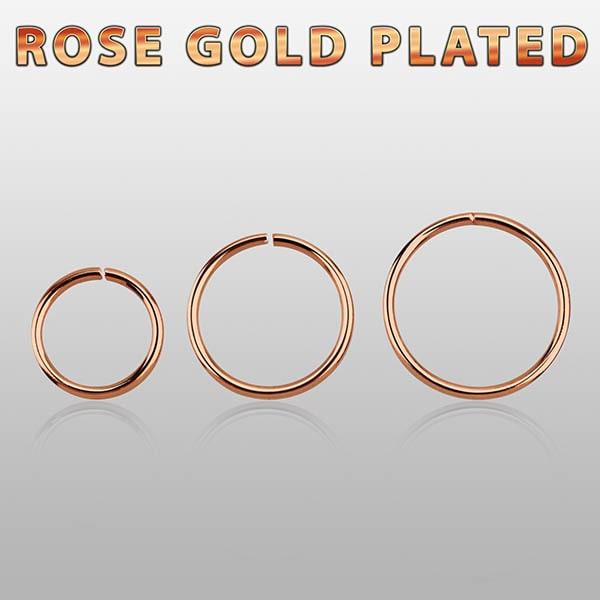 Rose Gold Plated Nose Hoop piercings