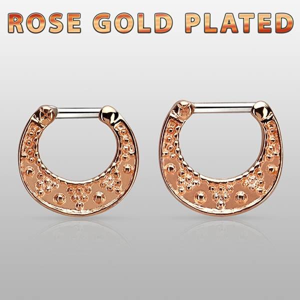 Rose Gold Plated Septum Ring piercings
