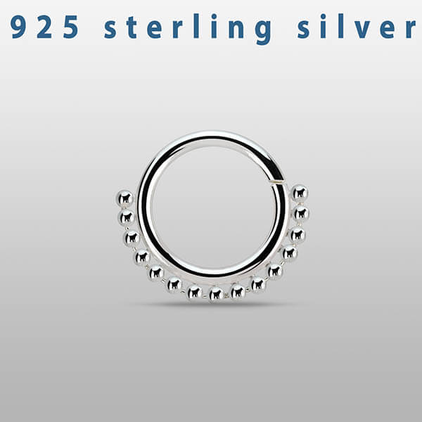 Seamless Silver Septum Ring