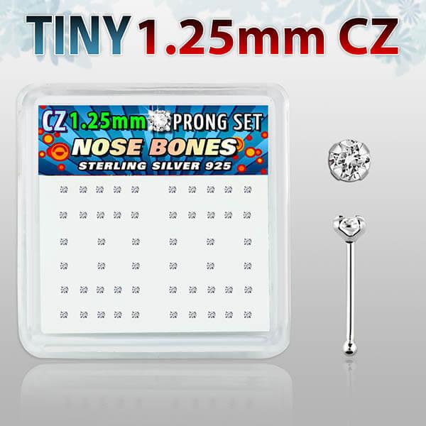 Silver Nose Bones on Display