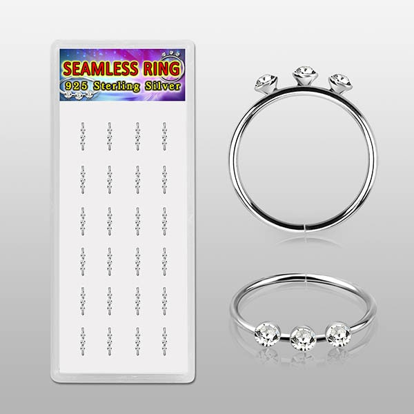Sterling Silver Seamless Nose Rings