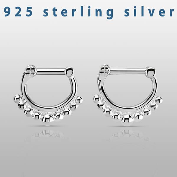Sterling Silver Septum Clicker Ring