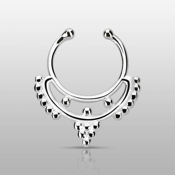 Silver Fake Septum Ring