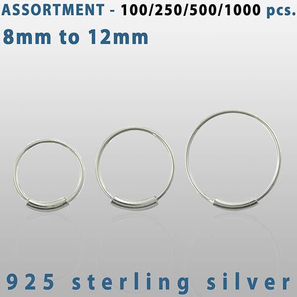 Sterling Silver Endless Nose Hoop piercings